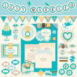 Wedding`s Day scrapbook elements — Stock Vector
