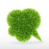 Eco amigable burbujas de discurso, — Vector de stock