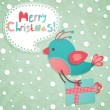 Royalty-Free Stock Imagen vectorial: Funny Christmas postcard
