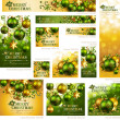 Royalty-Free Stock Imagen vectorial: Collection of Christmas banners