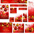 Stock Vector: Collection of Christmas banners