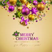 Prachtige kerstmis achtergrond met plaats voor tekst. — Stockvector