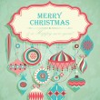 Funny Christmas postcard — Stock Vector #8132102