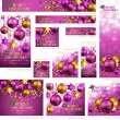 Royalty-Free Stock Vector Image: Collection of Christmas banners