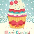 Royalty-Free Stock Vector Image: Funny Christmas postcard.