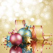 Christmas background with balls — Vettoriali Stock