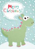 Funny Christmas postcard — Stock Vector