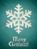 Christmas postcard with snowflake — Stock Vector