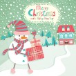 Funny Christmas postcard — Stock Vector #8205457