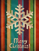 Christmas postcard with snowflake — Stockvector