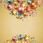 Christmas vintage background. — Stock Vector
