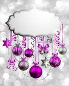 Kerstmis achtergrond met plaats voor tekst — Stockvector