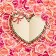 Valentines Day card with Heart — ストック写真