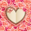 Valentines Day card with Heart — Stock fotografie