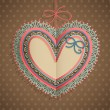 Valentines Day vintage card with heart — Cтоковый вектор