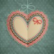 Valentines Day vintage card with heart — 图库矢量图片