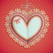Valentines Day vintage card with heart — Stock vektor