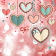 Valentines Day vintage card — ストックベクタ