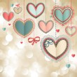 Valentines Day vintage card — Stock vektor #8649514