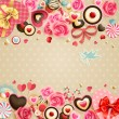 Valentine`s Day vintage card - Grafika wektorowa