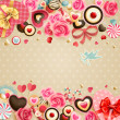 Valentine`s Day vintage card - Stok Vektr