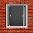 Royalty-Free Stock Vector Image: Opened plastic window
