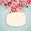 Valentine`s Day vintage card — Stock Vector