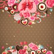 Valentine`s Day vintage card with sweets — 图库矢量图片