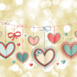 Valentine`s Day vintage card — ストックベクタ #9124478