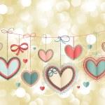 Wzór karty Walentynki — Wektor stockowy