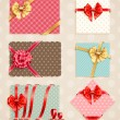 Bows Collection with vintage — Stock Vector