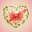 Valentines Day card with roses — Stock Vector