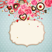 Valentine`s Day vintage card — Stockvektor