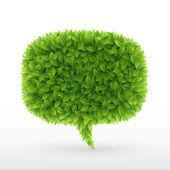 Zomer zeepbel voor spraak — Stockvector