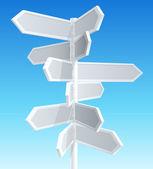 Sinais de trânsito de direção — Vetorial Stock