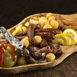 Rustic tray — Stock Photo