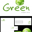 Green Logo Design — Stock Photo