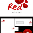 Red Logo Design — Stock Photo