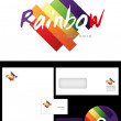 Rainbow Logo Design — Stock Photo