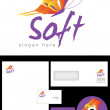 Soft Logo Design — Stock Photo