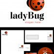 Ladybug Logo Design — Stock Photo