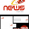 News Blog Logo Design — Stock Photo