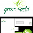 Green world Logo Design — Stock Photo