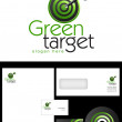 Green Target Logo Design — Stock Photo