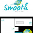 Smooth Logo Design — ストック写真
