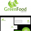 Green Food Logo Design — Stock Photo