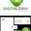 Digital Sign Logo Design — Stock Photo