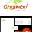 Ornament Logo Design — Stock Photo