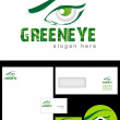Royalty-Free Stock Photo: Green eye Logo Design