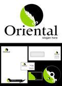 Oriental Logo Design — Stock Photo